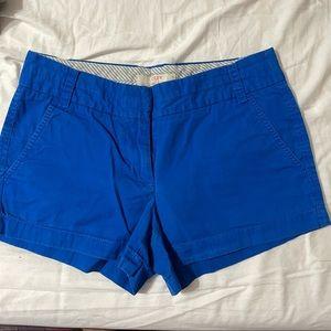 J crew linen chino shorts 100% cotton jcrew blue